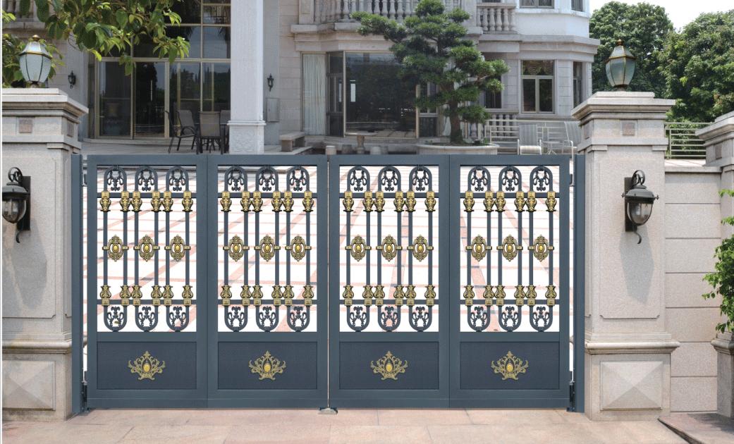 豪华铝艺智能悬浮折叠庭院门007