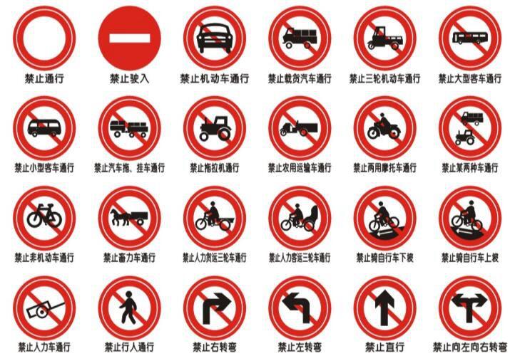 jiao通设shi 禁令标识牌